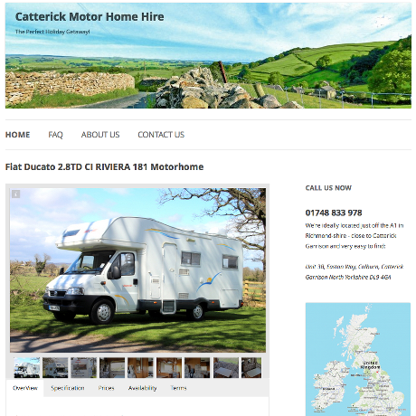Catterick Motorhome Hire